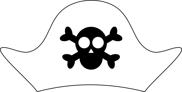 pirate hat inverted clip art at clker com vector clip art online