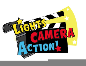 lights camera action clipart free images at clker com vector rh clker com  lights camera action clipart free