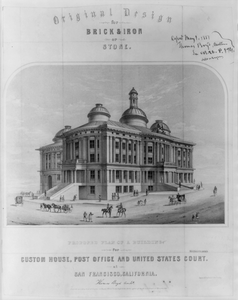 Proposed Plan Of A Building For Custom House, Post Office And United States Court At San Francisco, California Image