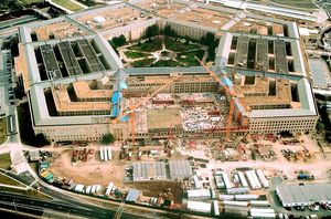 Repairs To Pentagon After 9-11 Terrorist Attack Image