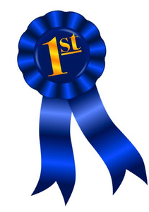 blue ribbon first place clipart free images at clker com vector rh clker com first prize ribbon clip art first second third place ribbons clip art