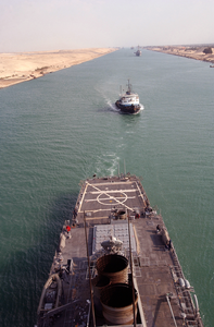 The Guided Missile Destroyer Uss Donald Cook (ddg 75) Transiting The Suez Canal Image