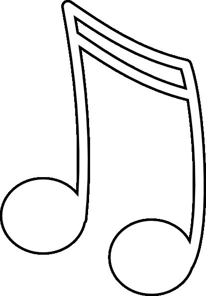 White Music Note Clip Art at Clker.com - vector clip art online ...