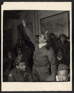 [members Of The 332nd Fighter Group In A Briefing Room, Ramitelli, Italy, March, 1945] Image