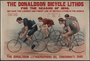 The Donaldson Bicycle Lithos For The Season Of 1896 Image