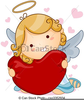 Heart And Cupid Clipart Image