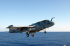 Ea-6b Prowler Launches From One Of Four Steam Powered Catapults On The Ship S Flight Deck Image