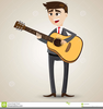 Girl Guitar Player Clipart Image