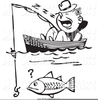Free Clipart Of Man Fishing Image