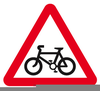 Cycling Lane Signs Clipart Image