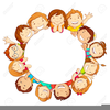 Students Sitting In A Circle Clipart Image