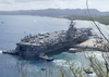 Uss Carl Vinson (cvn 70) Prepares To Moor At Kilo Wharf In Apra Harbor, Guam Image