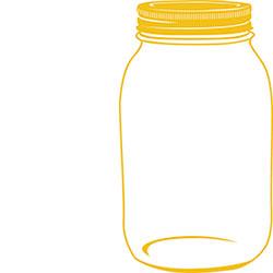 Yellow Mason Jar | Free Images at Clker.com - vector clip ...