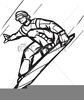 Skiing Snowboarding Clipart Image