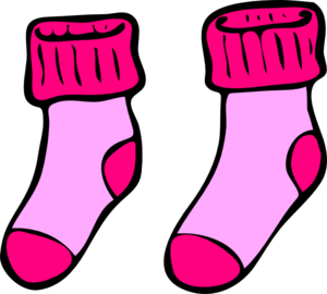 pink socks clip art at clker com vector clip art online royalty rh clker com sock clip art black and white baby socks clipart