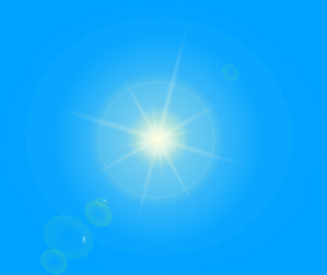 Sun With Blue Background Clip Art