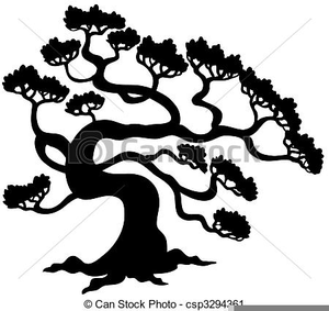 Free Clipart Pine Tree Silhouette Image