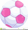 Pink Soccer Ball Clipart Image