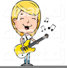 Free Guitar Player Clipart Image