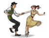 Swing Dance Cartoon Image