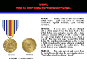 War On Terrorism Expeditionary Medal Image