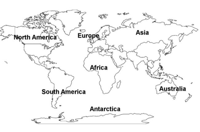 World Continents Map Free Printout Picture Free Images At Clker - Continents map for kids