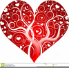Ornate Heart Clipart Image