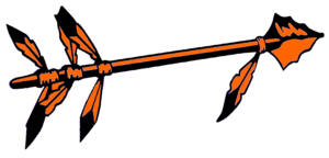 Black And Orange Spear Cut Image