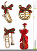 Free Christmas Instrument Clipart Image