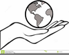 Planet Earth Clipart Black White Image