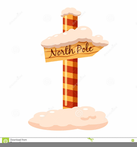 North Pole Sign Clipart Free Image
