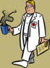 Doctor With A Cup Of Coffee Clip Art