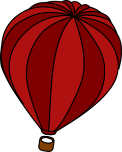 Hot Air Balloon Red Clip Art