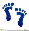Free Blue Baby Footprint Clipart Image