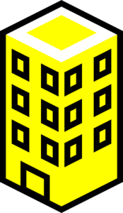 Office Building Yellow Clip Art