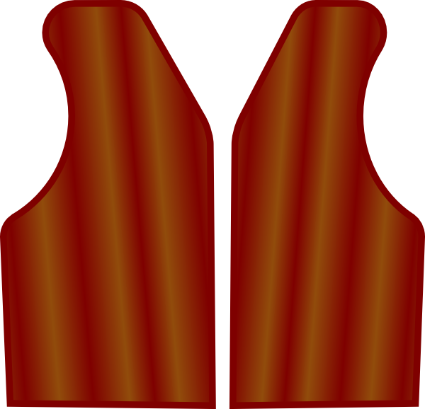 Maroon Brown Vest Clip Art at Clker.com - vector clip art ... Cowboy Vest Clip Art