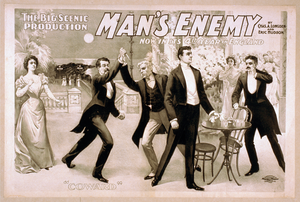 The Big Scenic Production, Man S Enemy By Chas. A. Longdon And Eric Hudson : Now In Its 4th Year In England. Image