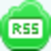 Free Green Cloud Rss Button Image