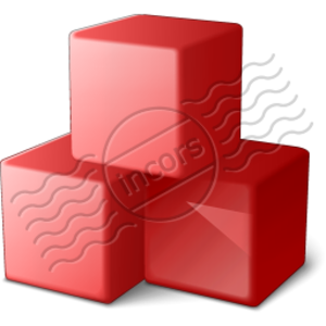Cubes Red 4 Image
