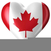 Canada Day Flags Clipart Image