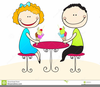Eating Ice Cream Clipart Image