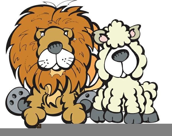 Lion And Lamb Clipart Free Images At Clkercom Vector Clip Art