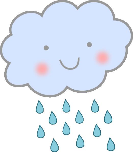 Cute Rain Cloud Clip Art at Clker.com - vector clip art ...