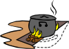 Campfires And Cooking Cranes 13 Clip Art