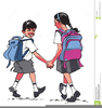 Children Going To School Clipart Image