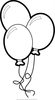 Free Black And White Balloon Clipart Image