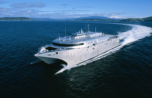 High Speed Vessel Two (hsv 2) Swift Is Participating In The West African Training Cruise Image