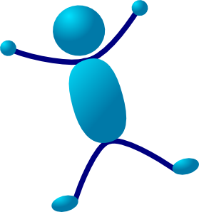 Stick Man Hurray Jumping Clip Art