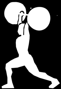 Olympic Weightlifting Clean&jerk 2 Clip Art