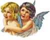 Vintage Angel Pair Hugging Left Image